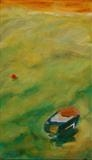 Boat and Buoy by Erica Shipley, Painting, Oil on Board
