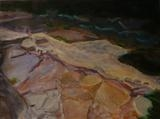 Cave Floor by Erica Shipley, Painting, Oil on Paper