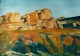 Cedarberg Outcrop by Erica Shipley, Painting, Oil on Board