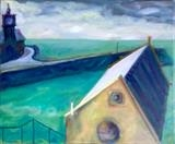 Lifeboat House Studio by Erica Shipley, Painting, Oil on canvas
