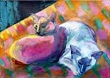 Oscar and Rosa by Erica Shipley, Painting, Oil on Paper