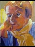 Portrait of Jo by Erica Shipley, Painting, Oil on Board