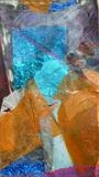 Rock and water shadows by Erica Shipley, Painting, Collage